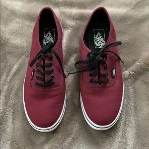 Maroon Vans - Never worn
